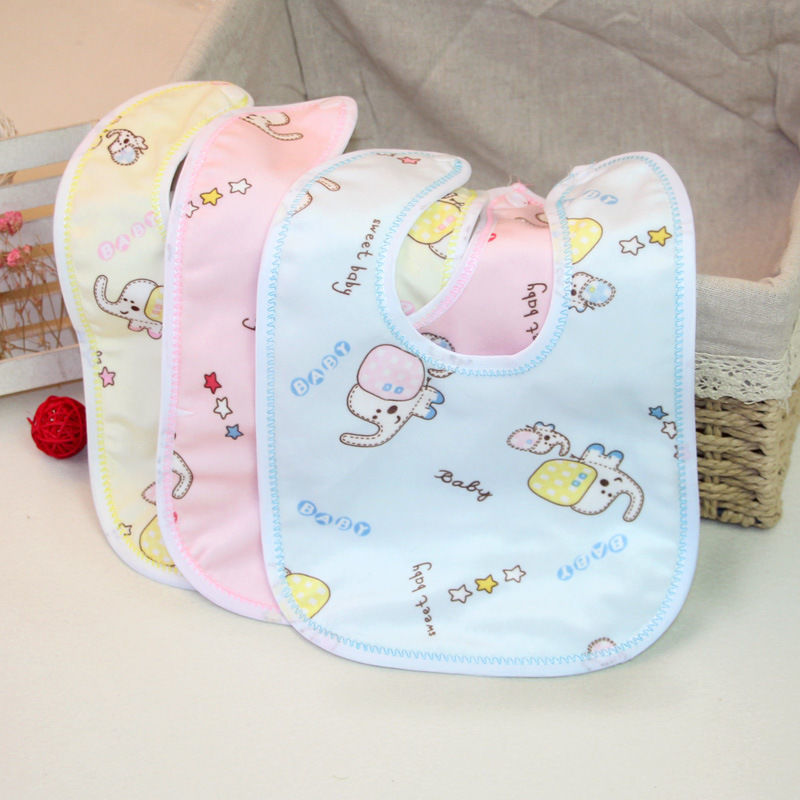 新生婴幼儿围嘴U型暗扣宝宝口水巾防水防吐奶儿童卡通吃饭围兜