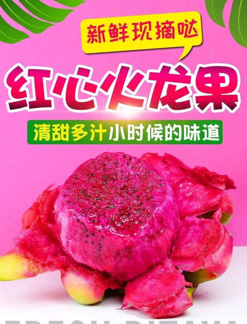 【白肉火龙果】顺丰包邮现摘越南火龙果当季新鲜水果应季孕妇白肉火龙果【神农良品】