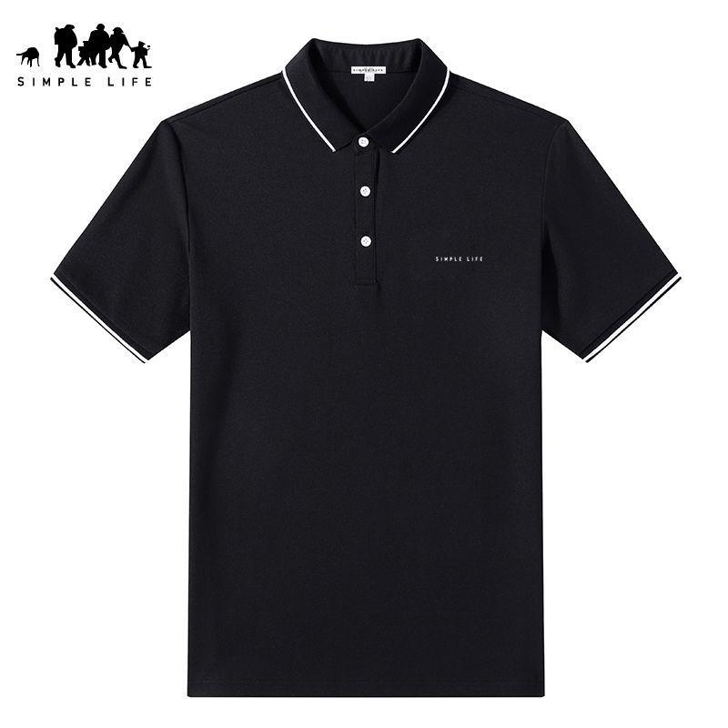 Simple Lifepolo衫男短袖夏季新款休闲纯色潮流上衣翻领保罗T恤棉