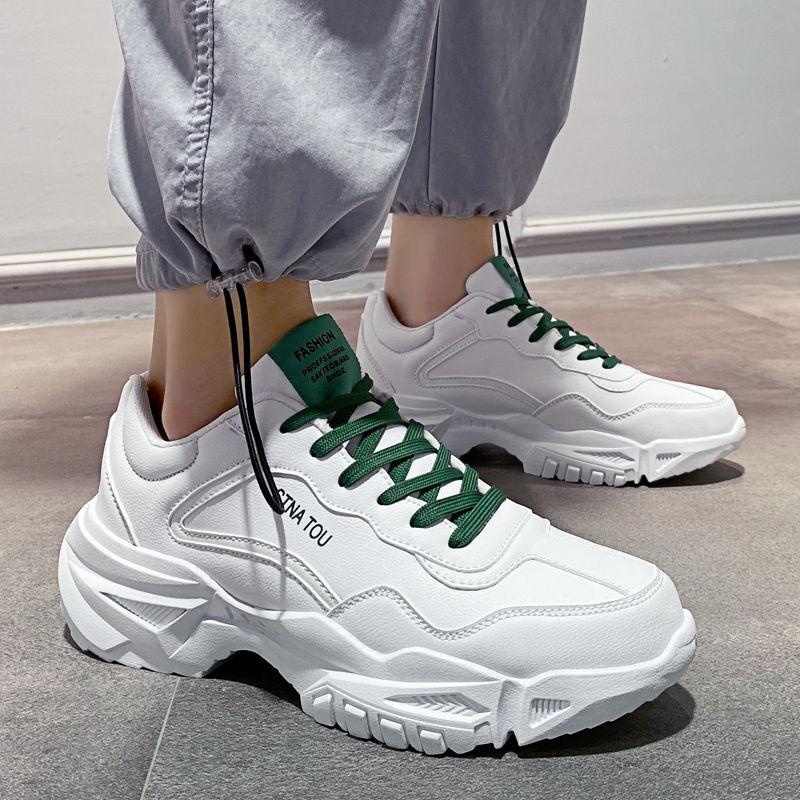 热卖新款夏季透气男鞋子2021新款小白鞋韩版潮流百搭男士休闲运动