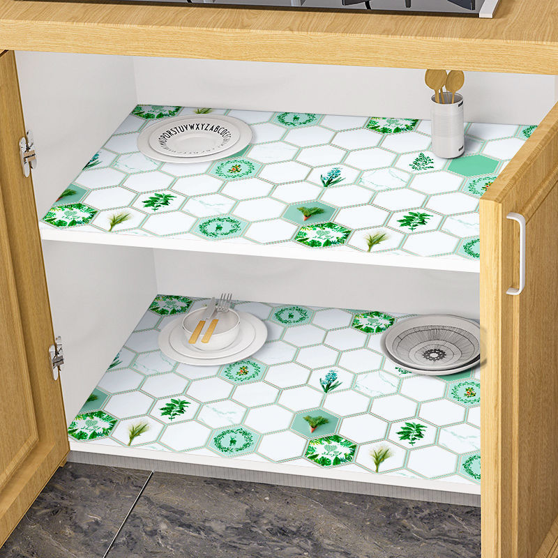 橱柜贴纸防水厨房防油贴纸加厚碗柜垫抽屉防潮垫柜子衣柜防污垫纸