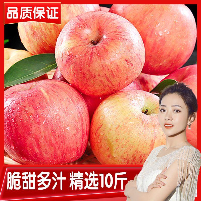 特级水晶红富士苹果水果新鲜5/10斤应季水果冰糖心现摘整箱丑苹果