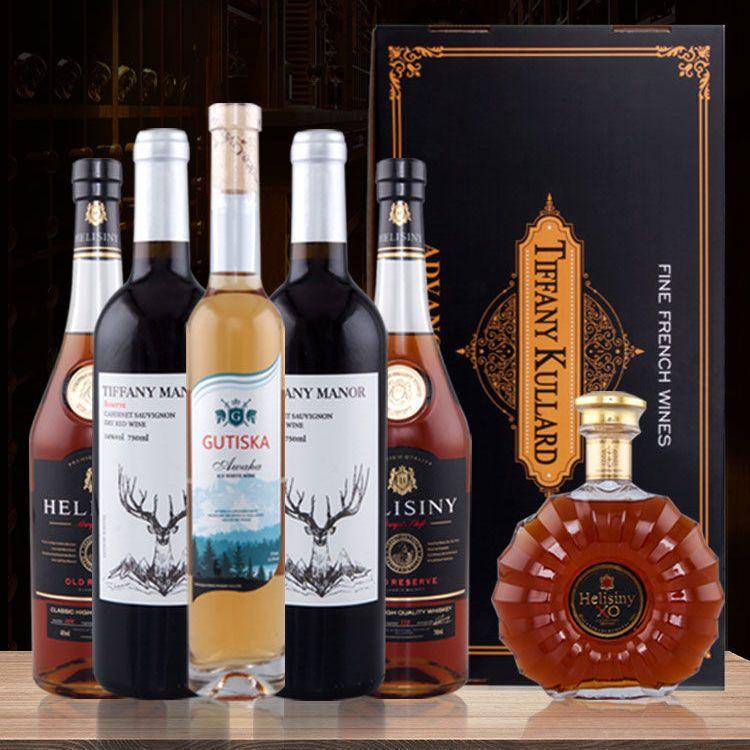 狂狼兔子红洋酒礼盒6瓶送礼法国进口礼盒装XO正品过年套装