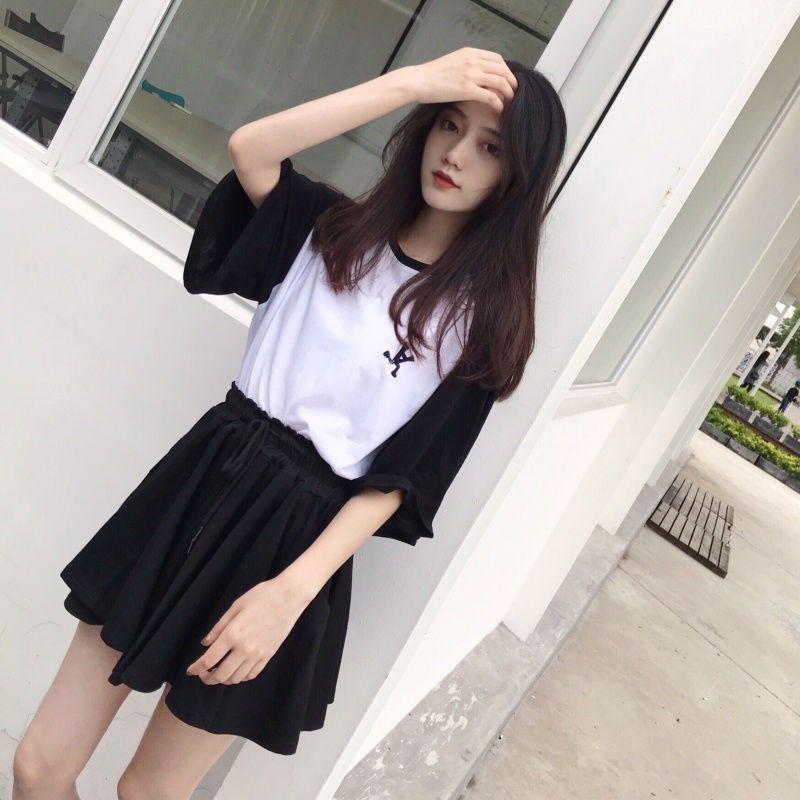 春夏季短袖T恤宽松显瘦