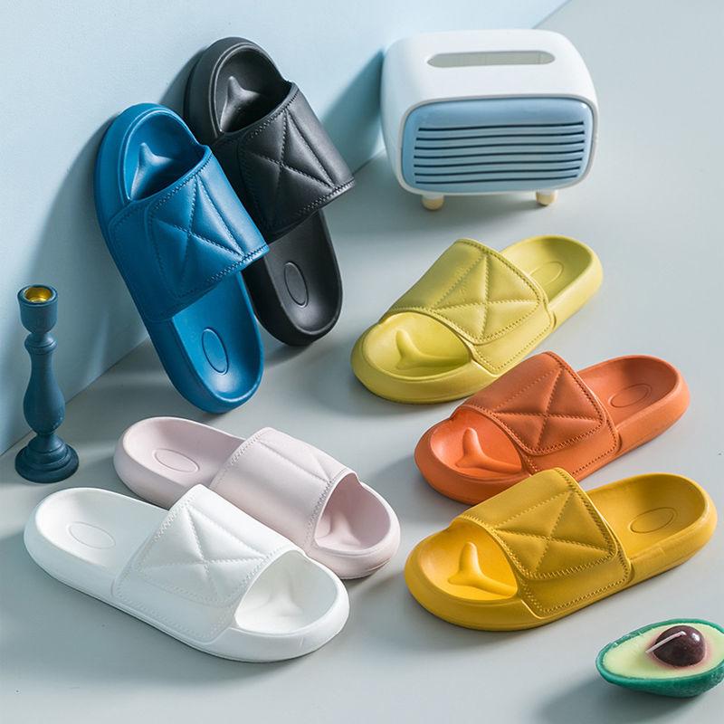 夏季室内男女新款家居用浴室冲凉防滑防臭凉拖鞋情侣软底简约厚底