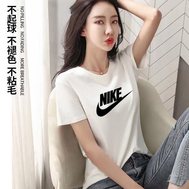 纯棉短袖T恤女不起球夏装半袖宽松休闲ins网红韩版潮流时尚女上衣