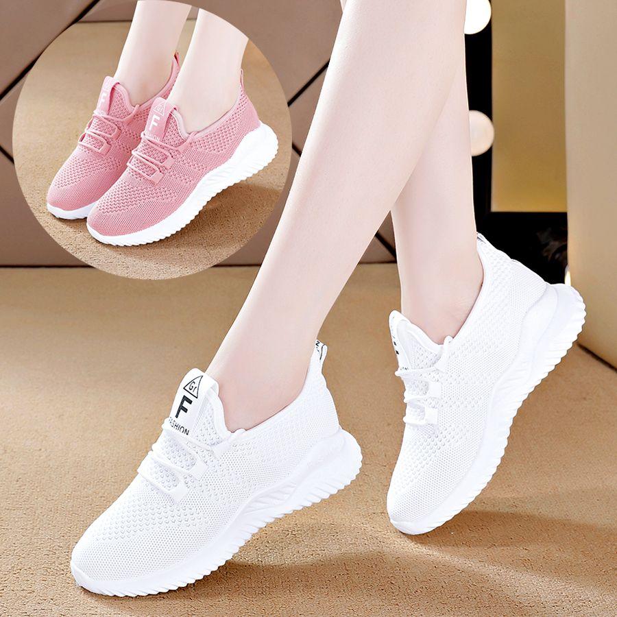 热卖新款鞋子女2021春夏新款网面运动鞋女休闲跑步女鞋子潮韩版小