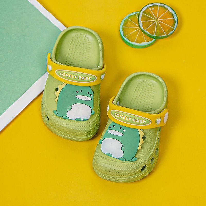 幸福玛丽儿童洞洞鞋夏宝宝婴幼儿凉拖鞋男女童卡通小孩防滑沙滩鞋