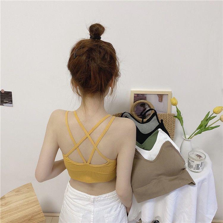美背运动内衣新款少女学生吊带背心抹胸