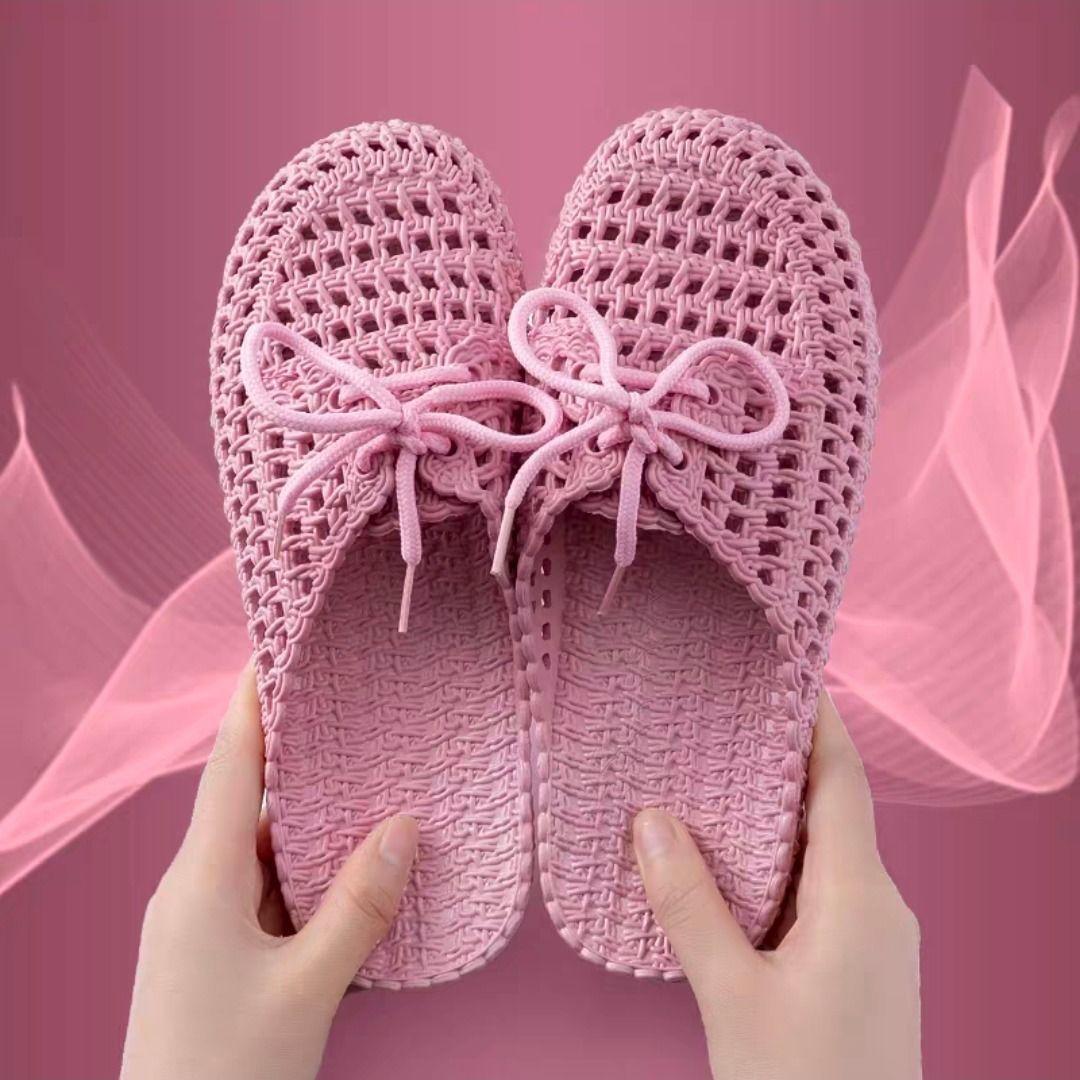 新款夏季包头平底洞洞鞋居家室内外凉拖鞋女懒人时尚学生沙滩