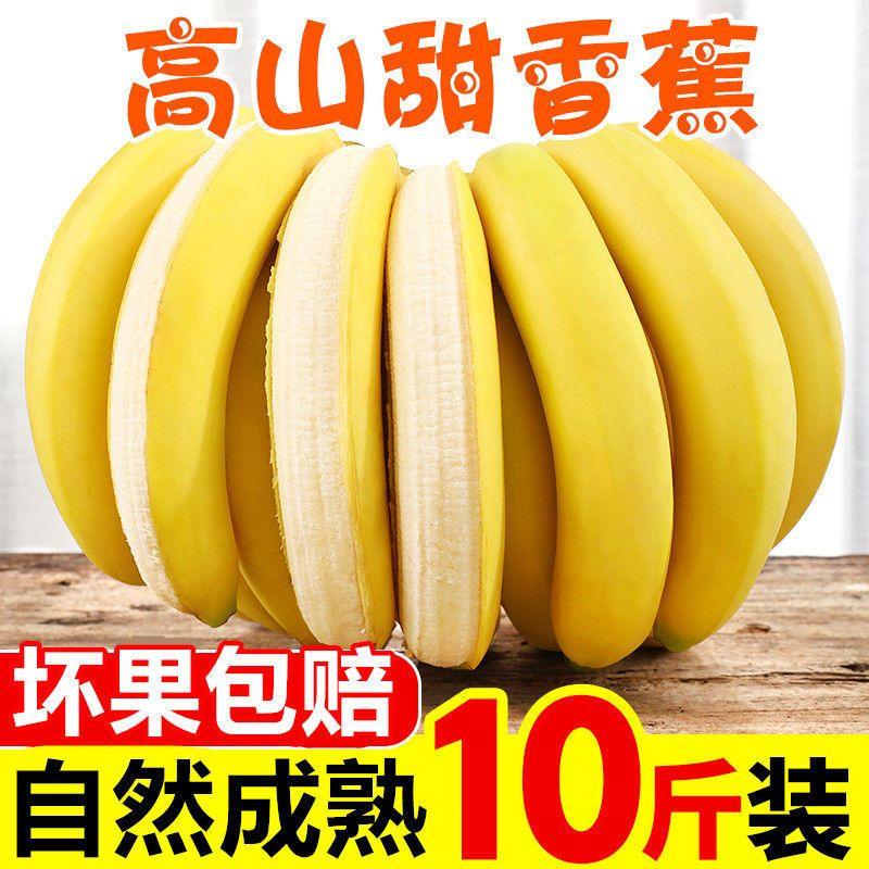 【现砍自然熟】云南山地香蕉香甜水果批发非小米蕉孕妇新鲜水果