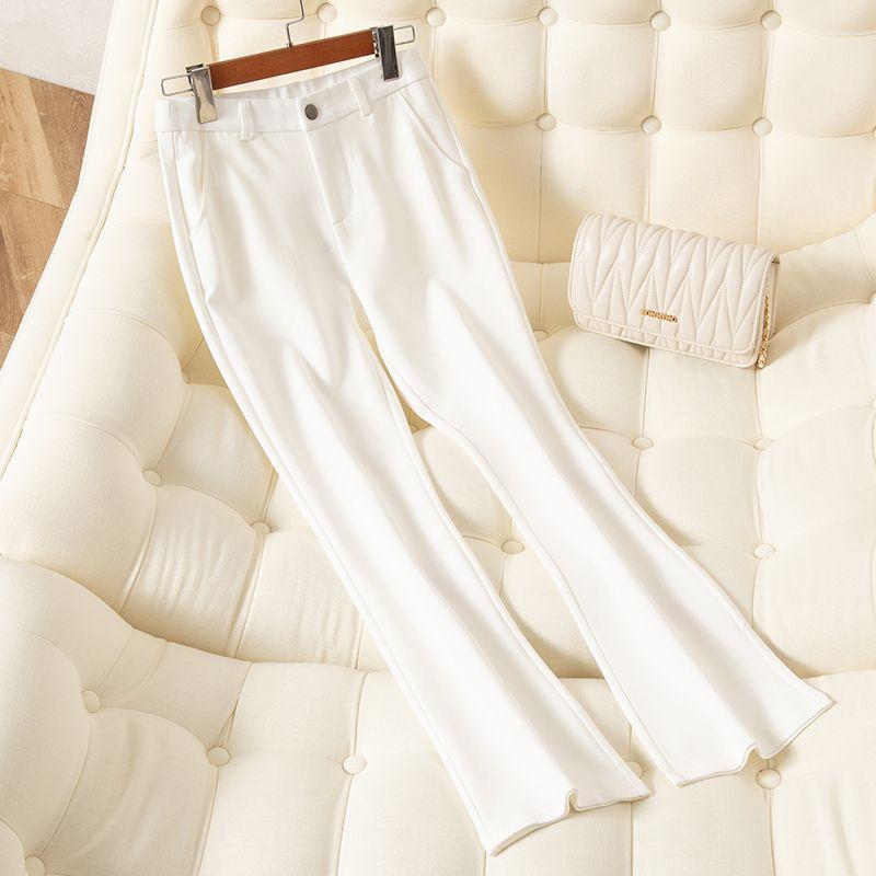 热卖新款矮个子九分西装裤女2021春季新款高腰显瘦垂感工装休闲百