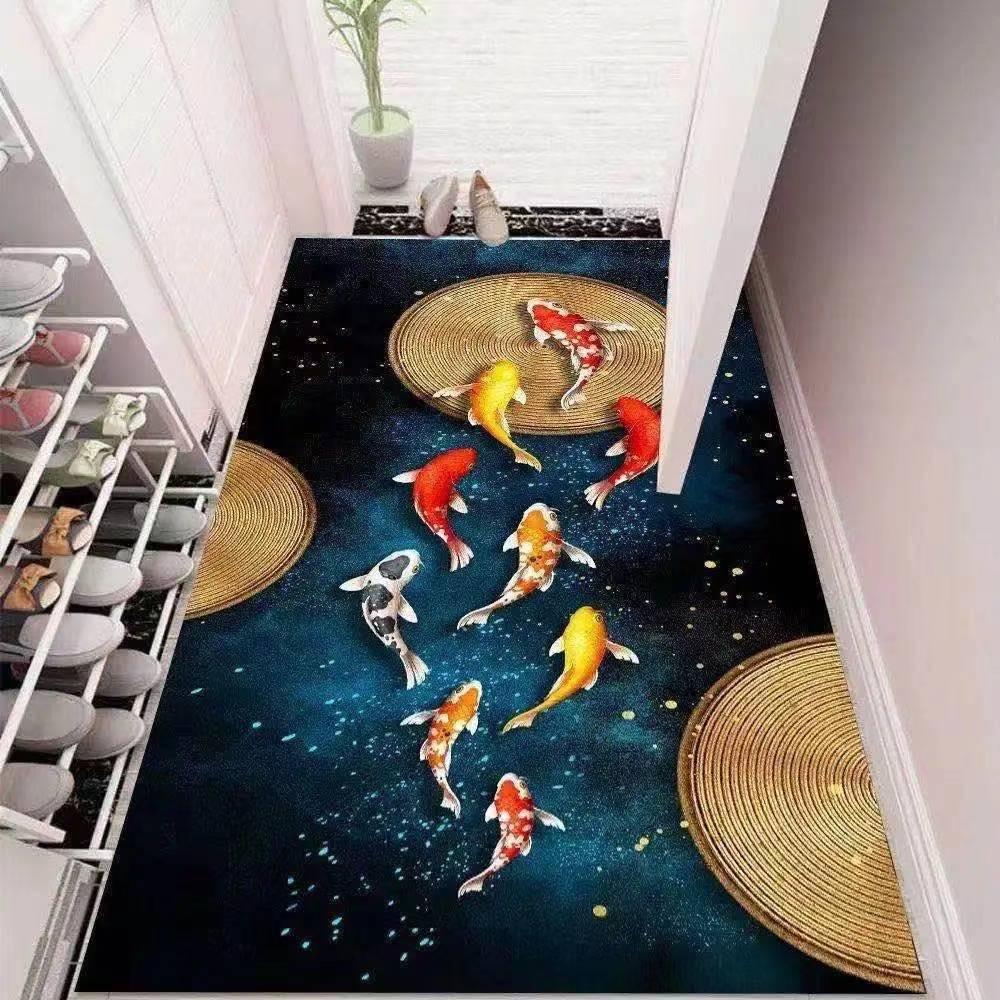 现代艺术3D进门入户门地毯玄关客厅满铺