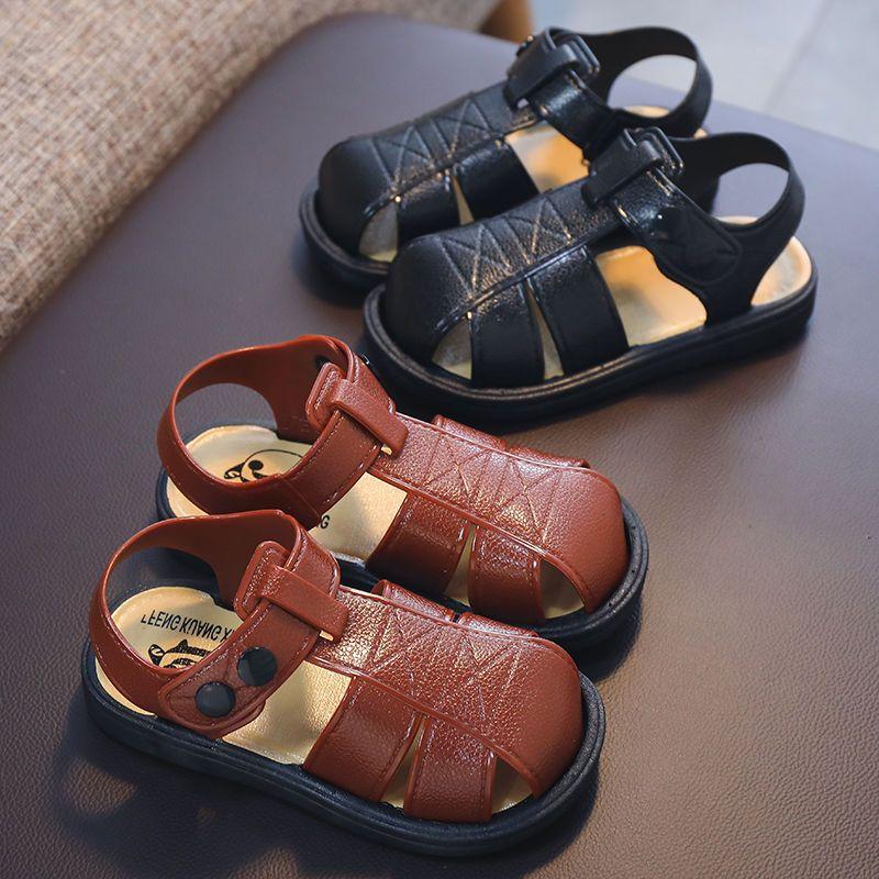 男童凉鞋中小童男孩包头学步凉鞋软底沙滩防