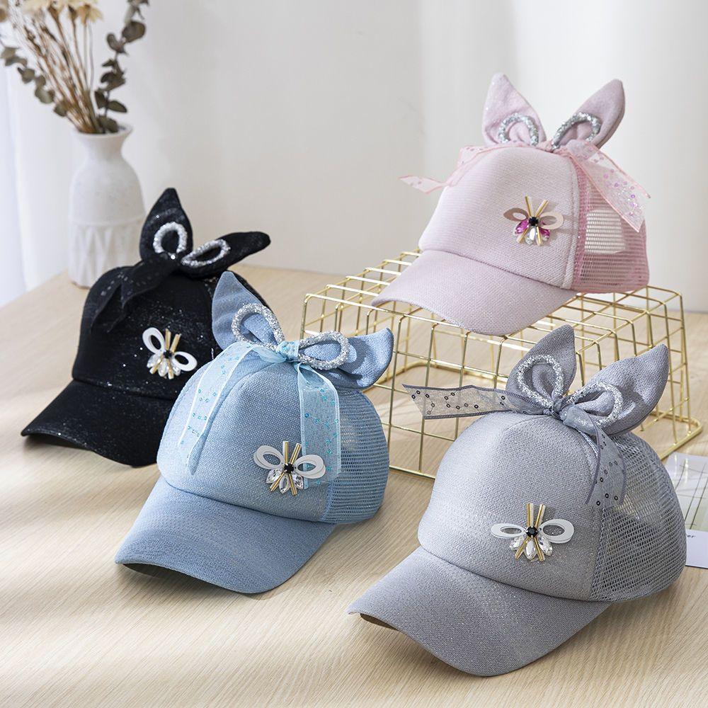 儿童帽子春夏男女宝宝帽子女童男童小孩网帽棒球帽洋气