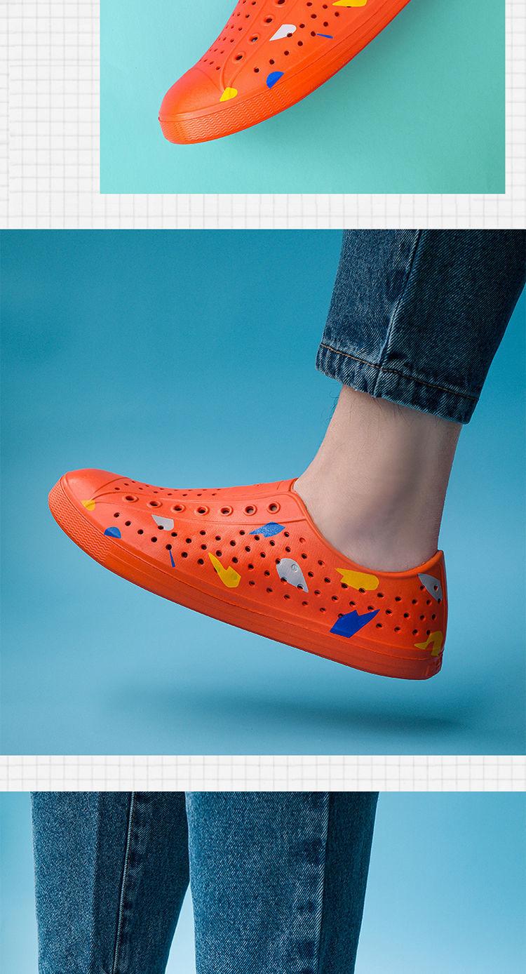 Native speaker夏季男士包頭洞洞鞋涼鞋鏤空拖鞋韓版透氣沙灘鞋子【4月20日發完】@XI31227