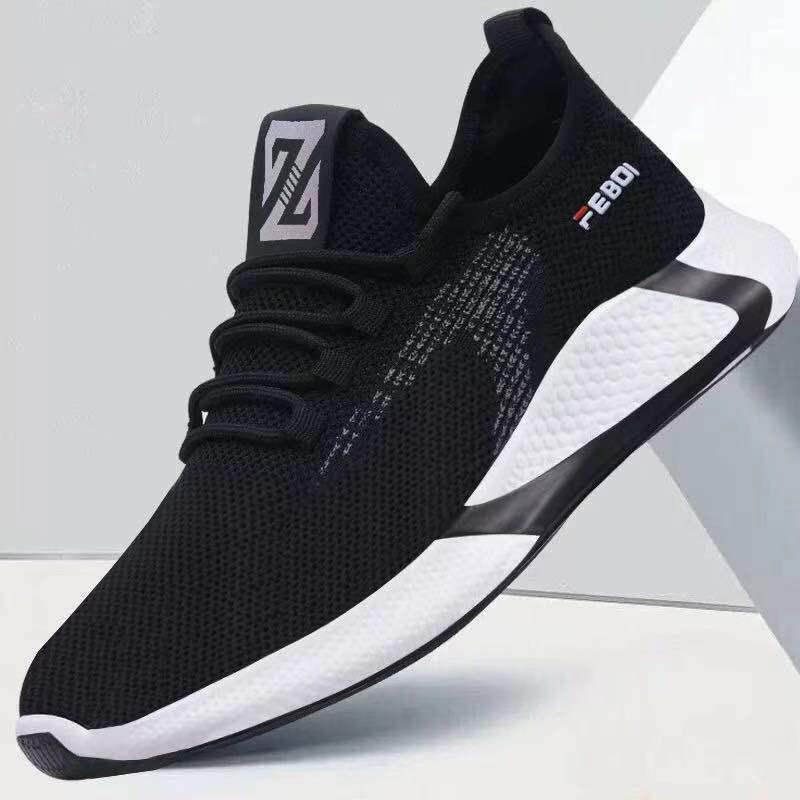 2021春秋季男鞋透气韩版休闲鞋运动鞋
