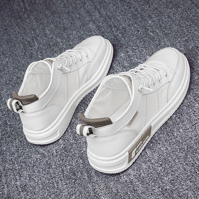 热卖新款鞋子男2021新款夏季透气板鞋男学生休闲小白鞋韩版潮流百
