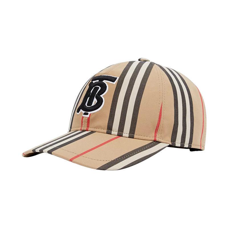 BURBERRY 博柏利/巴宝莉帽子春夏新款TB标识条纹防晒棒球帽鸭舌帽