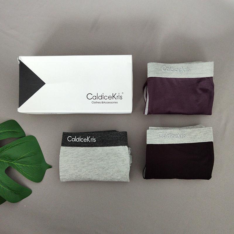 CaldiceKris2021新款男士莫代尔拼色平角裤0875