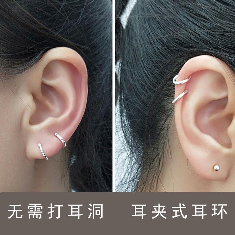 925纯银简约时尚耳骨夹