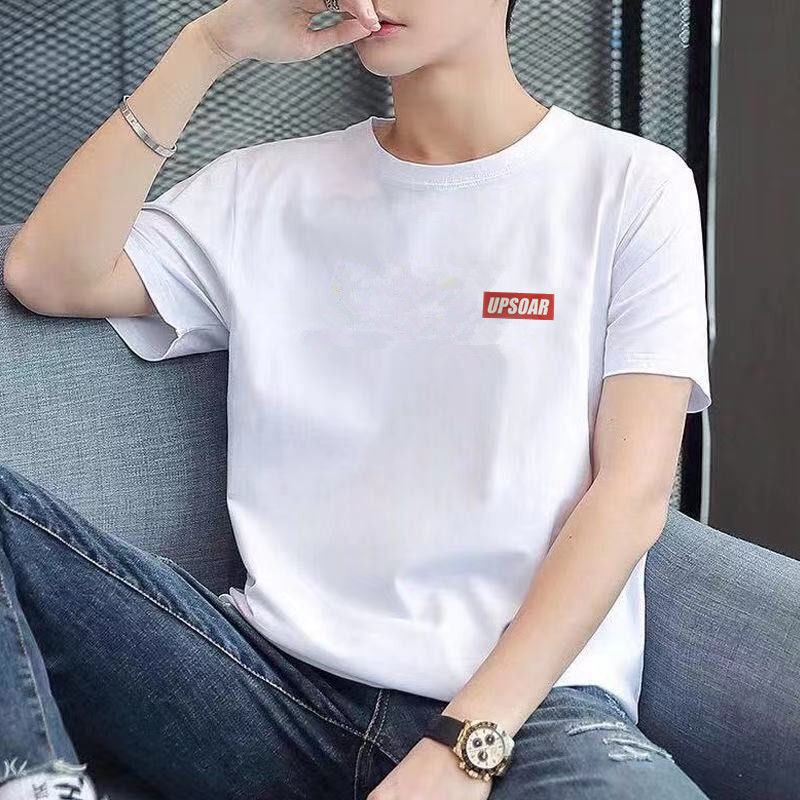 100%纯棉短袖T恤男士新款男女白色内搭