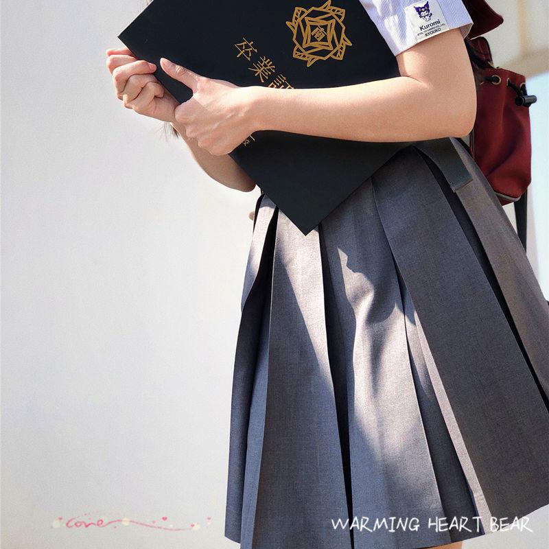 热卖新款暖心熊原创JK裙 基础款箱褶裙 正版制服裙纯色短裙 半身