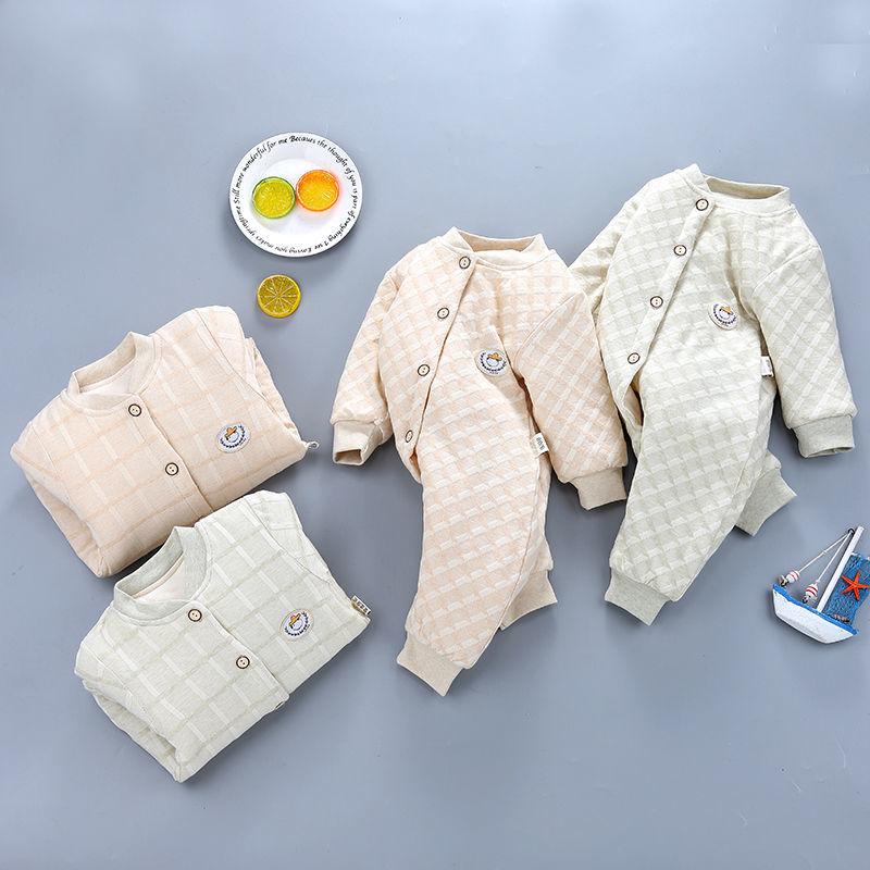 88572-婴儿连体衣秋装加棉加厚保暖哈衣长袖男女童新生儿宝宝衣服闭裆服-详情图