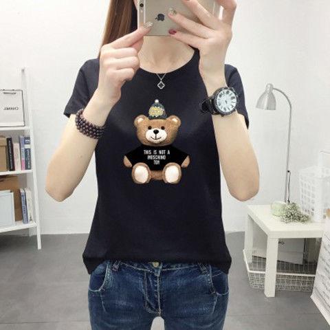 夏季时尚简约小熊印花短袖