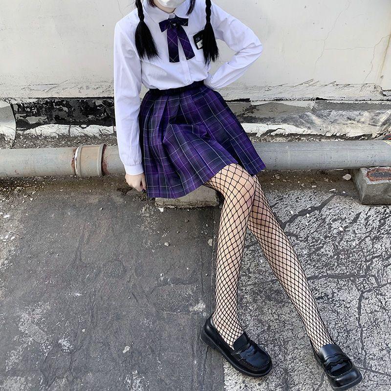 渔网袜子jk丝袜女薄款黑丝网红流行防勾丝打底袜春夏季超薄名媛风