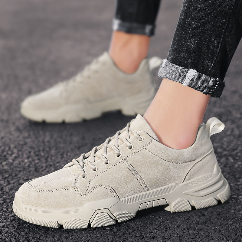 2021春季新款男鞋英伦风低帮休闲马丁靴