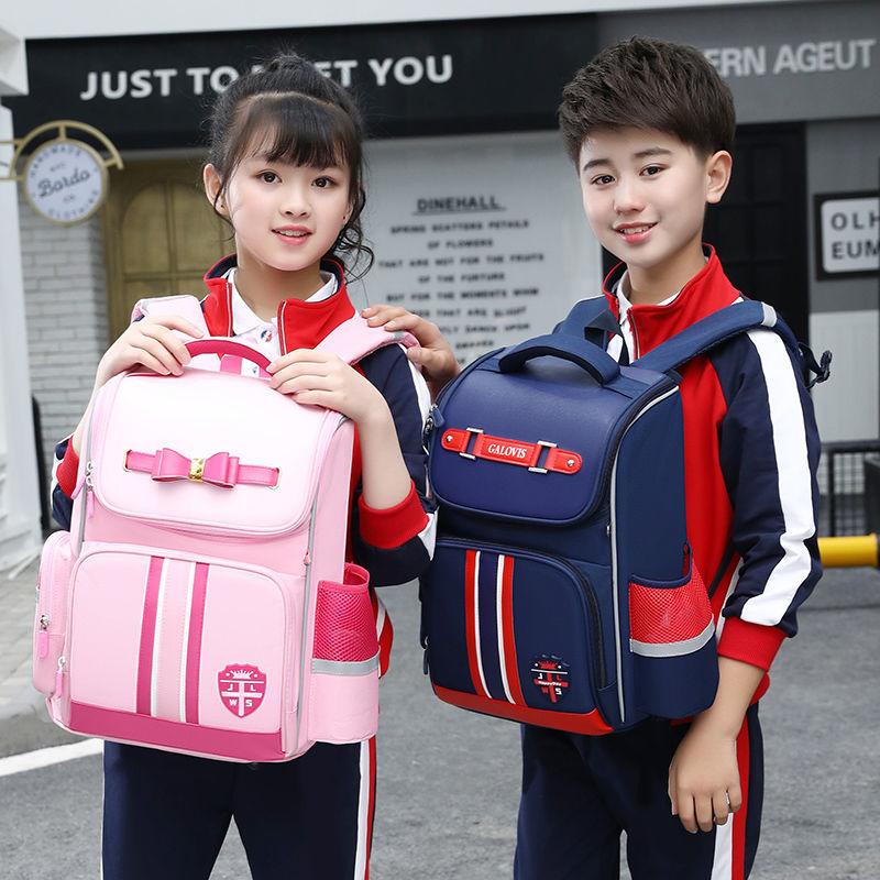 儿童书包小学生男女一二三到六年级韩版减负护脊轻便防水贵族书包