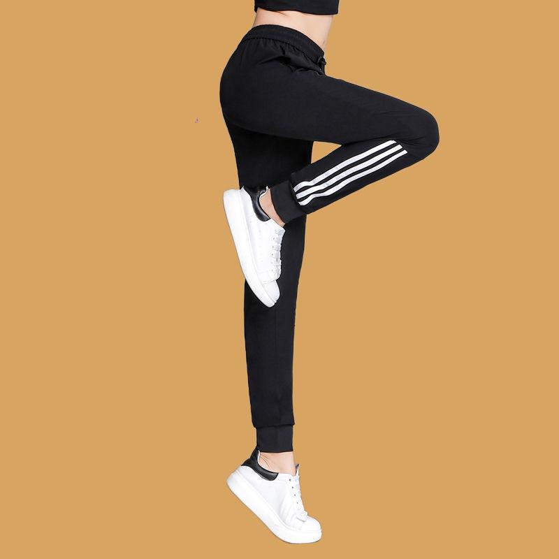 速干运动裤女士夏季薄款冰丝长裤宽松束脚高腰瑜伽健身跑步休闲裤