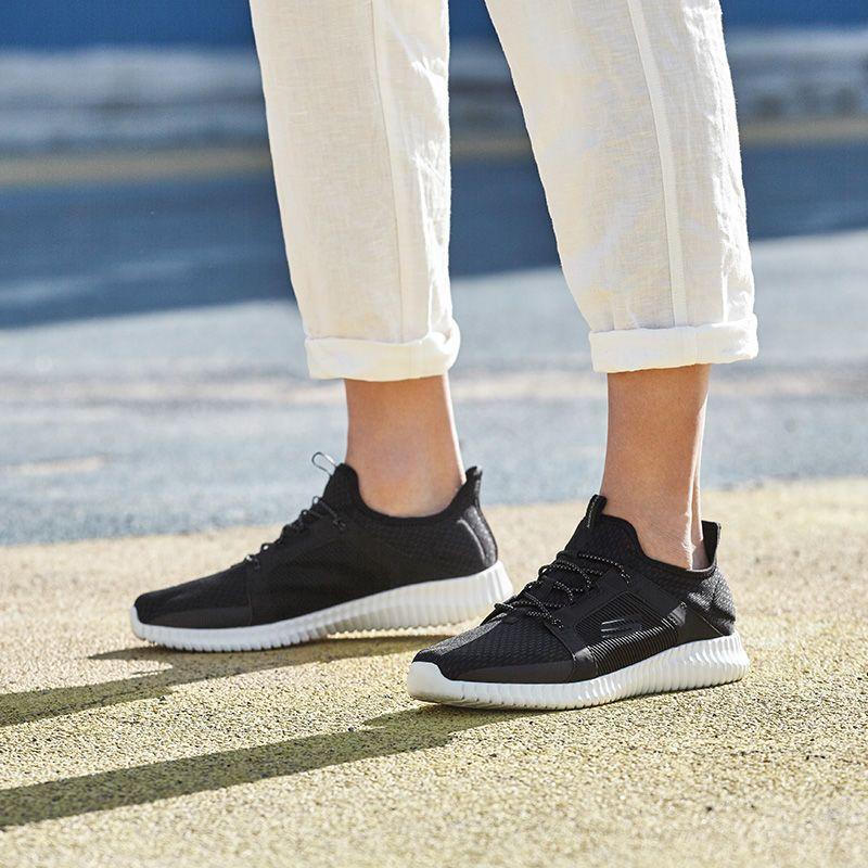 Skechers斯凯奇男鞋轻便减震一脚套懒人鞋低帮休闲鞋运动鞋52640