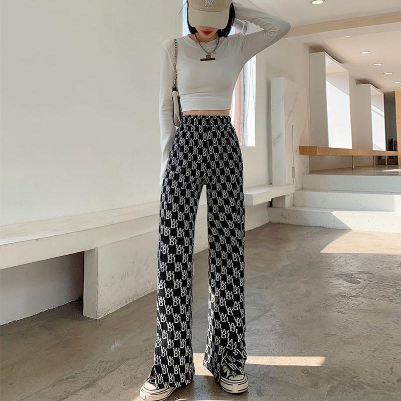 2021新高腰阔腿裤春夏女装韩版时尚显