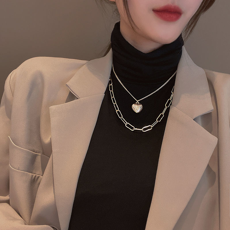 女气质时尚个性冷淡风颈链组合套装
