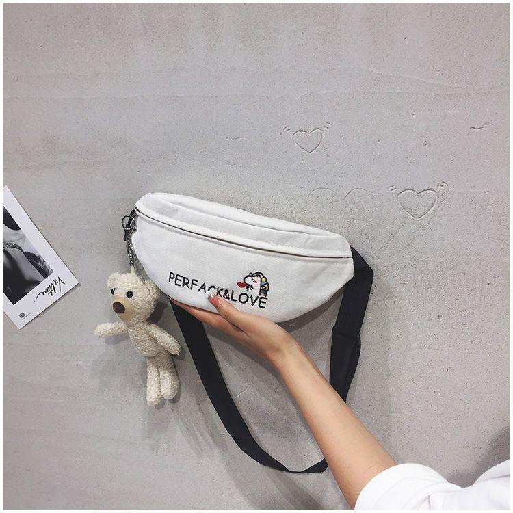 腰包女2021新款可爱独角兽休闲运动挎包