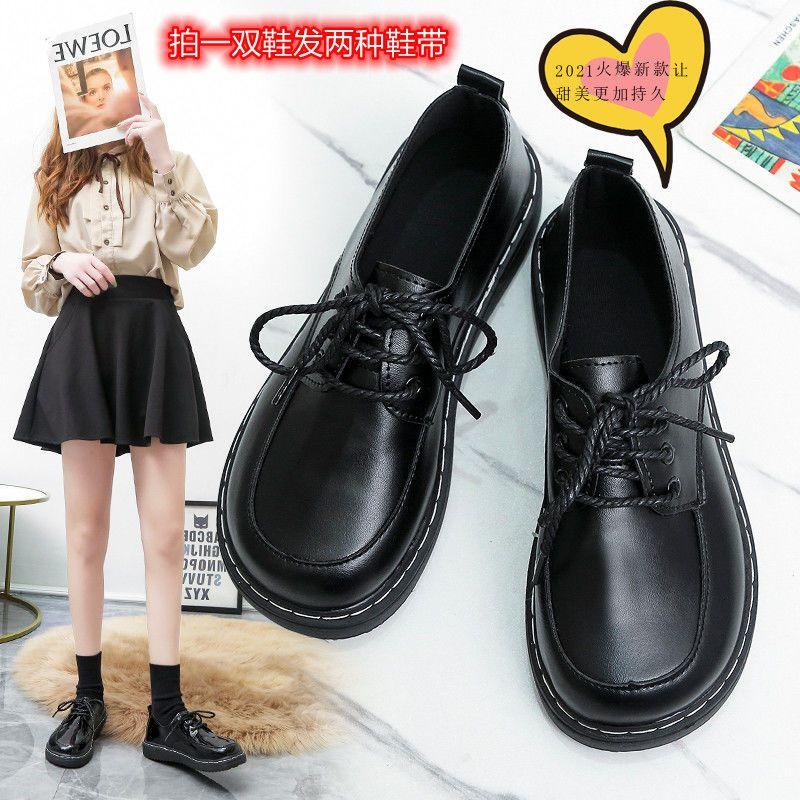 日系甜美小皮鞋复古软妹鞋