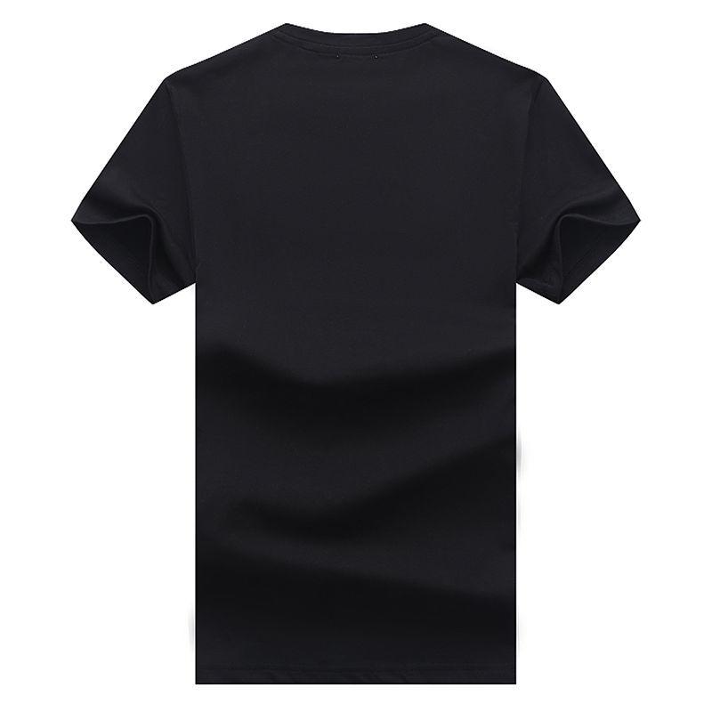 37819-外贸原单蒙口新款大字母印花圆领短袖打底衫男女同款百搭男生学生-详情图