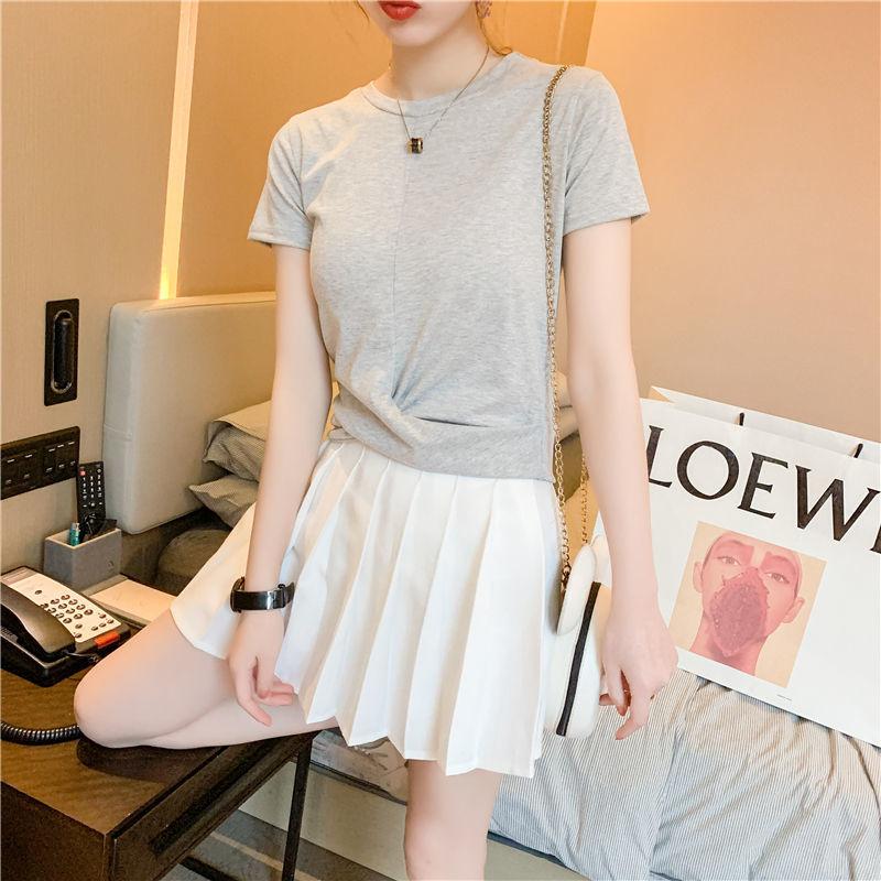 2021新款短袖t恤女纯色夏季纯色洋气