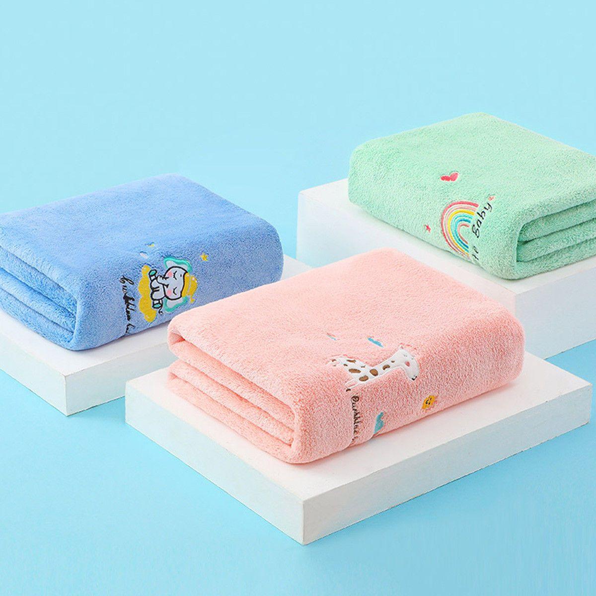 75853-新生婴儿儿浴巾比纯棉超柔吸水儿童洗澡巾宝宝浴巾春秋夏冬大毛巾-详情图