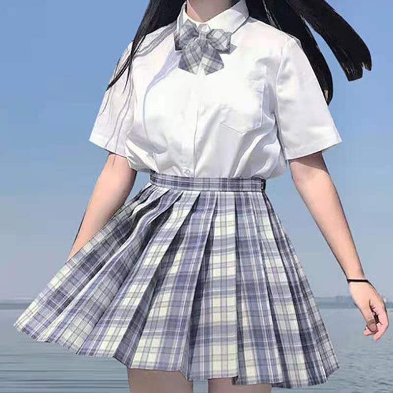 热卖新款日系原创JK制服套装制服女学院风套装长短袖衬衫百褶裙套