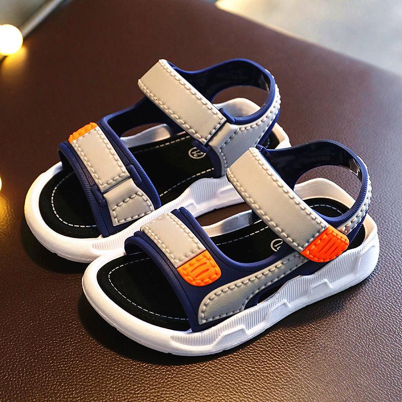 男童凉鞋2021新款夏季中大童男孩软底防滑小童宝宝鞋子儿童沙滩鞋