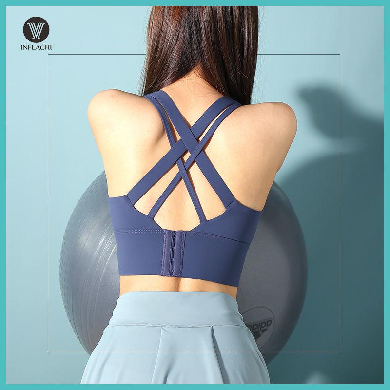 瑜伽跑步防震聚拢防下垂背心大胸显小高强度运动内衣健身美背文胸
