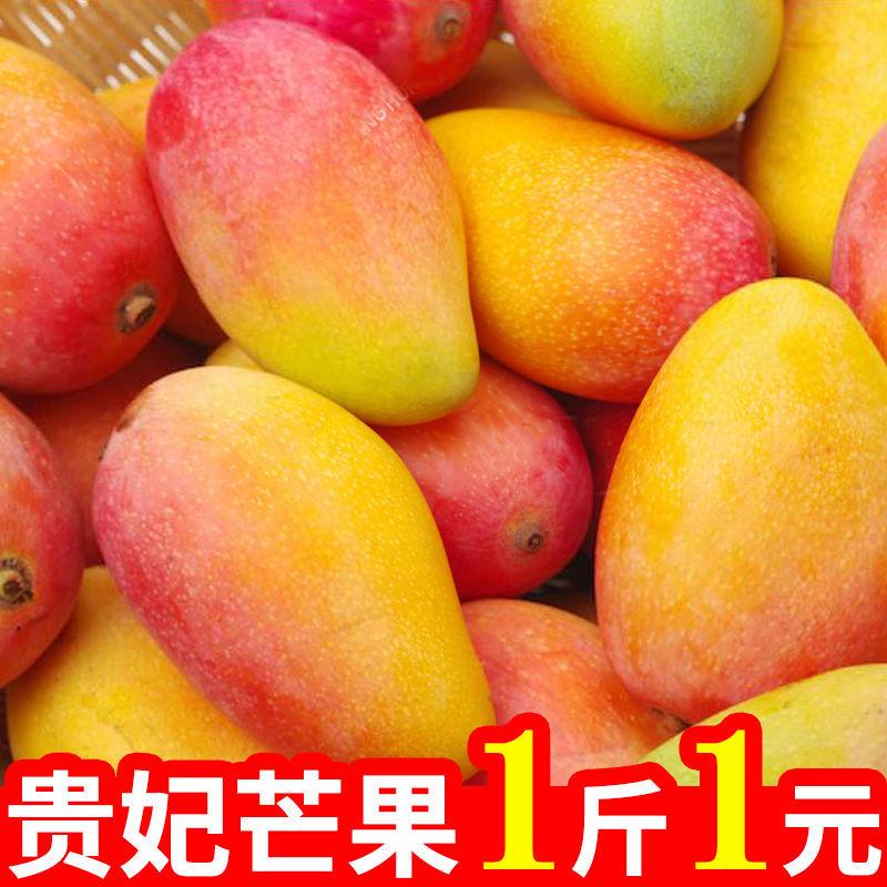 海南贵妃芒果当季热带新鲜孕妇甜水果整箱红金龙批发包邮2/5/10斤