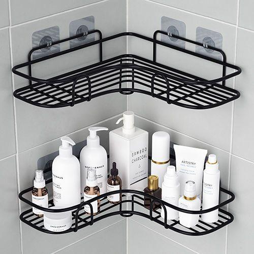 免打孔卫生间浴室洗漱台置物架洗手间三角架厕所壁挂厨房收纳架子