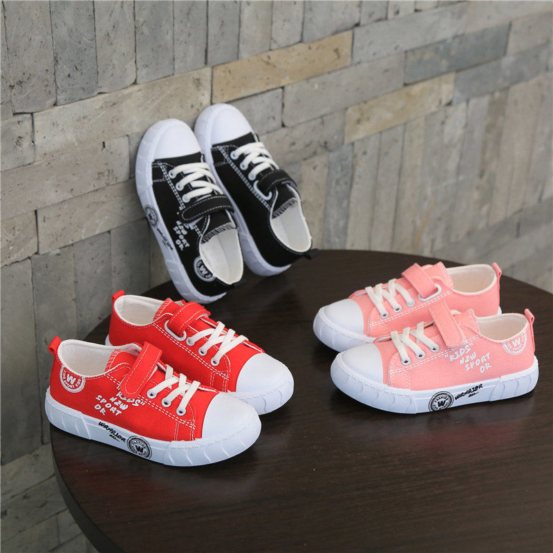 女童鞋子2021新款儿童帆布鞋