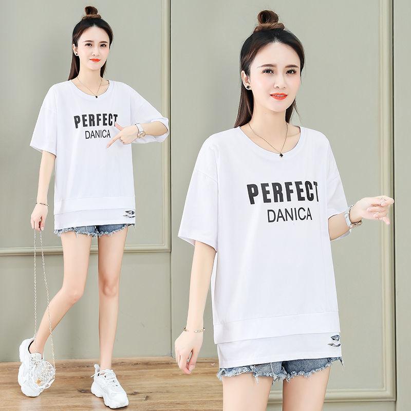 短袖t恤女装2021年新款夏季韩版宽松
