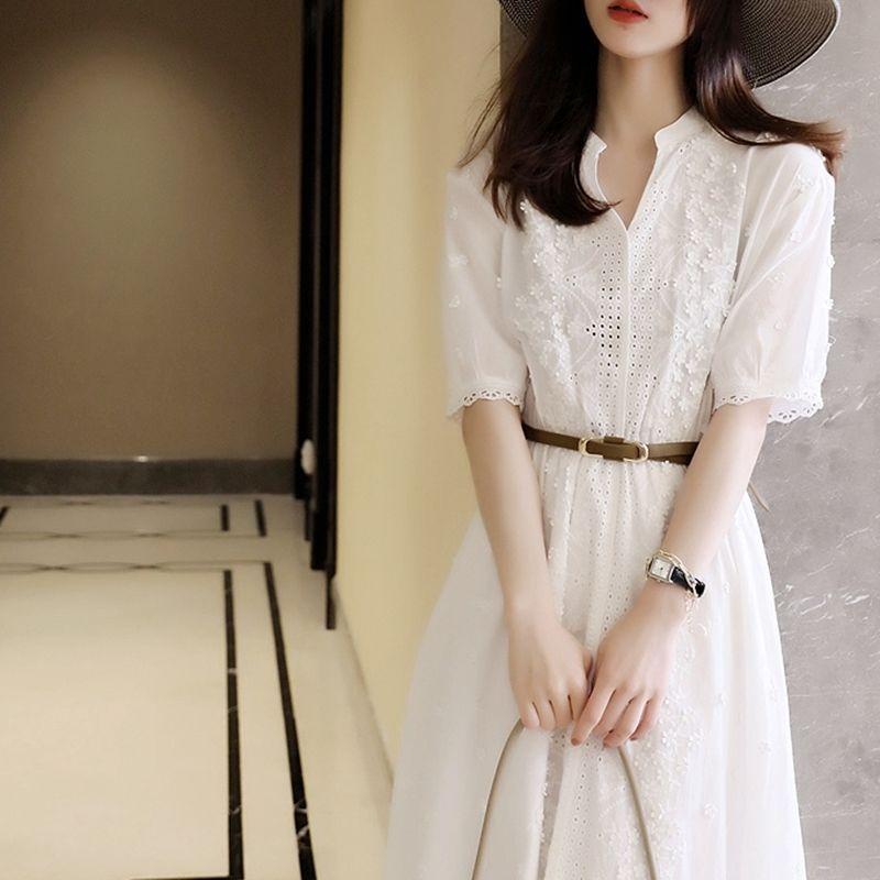 热卖新款仙女裙夏季白色连衣裙女2021新款法式初恋桔梗裙在逃公主