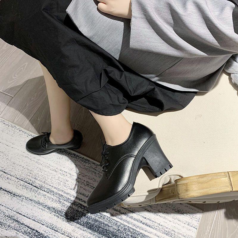 英伦风小皮鞋女春夏百搭韩版学生黑色女鞋